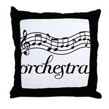 Musical Orchestra Throw Pillow