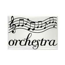 Musical Orchestra Rectangle Magnet