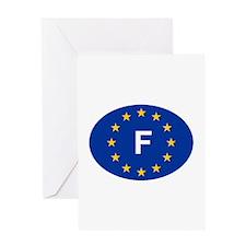 EU France Greeting Card