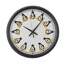 Tux the Linux Penguin Large Wall Clock