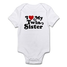 I Love My Twin Sister Infant Bodysuit