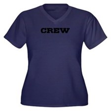 Crew Women's Plus Size V-Neck Dark T-Shirt