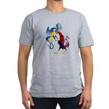 Two Colorful Fighting Rooster T