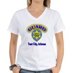 Guard Tent City Maricopa Coun Women's V-Neck T-Shi