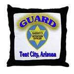 Guard Tent City Maricopa Coun Throw Pillow