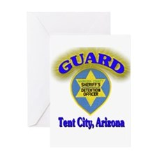 Guard Tent City Maricopa Coun Greeting Card