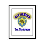 Guard Tent City Maricopa Coun Framed Panel Print