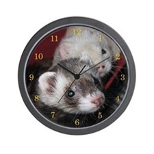 Loveable Ferrets Wall Clock