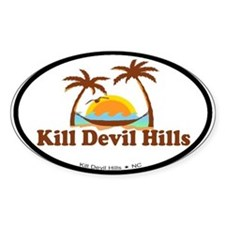 Kill Devil Hills NC - Palm Trees Design Decal