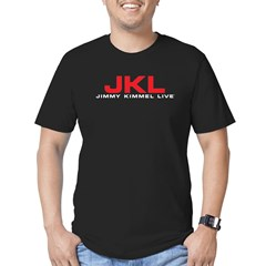 JKL Red Logo Men's Fitted T-Shirt (dark)