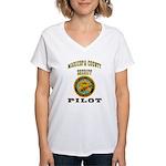 Maricopa County Sheriff Pilot Women's V-Neck T-Shi