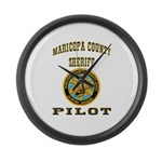 Maricopa County Sheriff Pilot Large Wall Clock