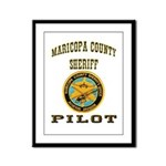 Maricopa County Sheriff Pilot Framed Panel Print