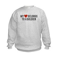 My Heart Belongs To A Soldier Sweatshirt