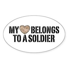 My Heart Belongs To A Soldier Decal