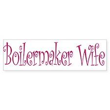 Boilermaker Wife Bumper Bumper Sticker