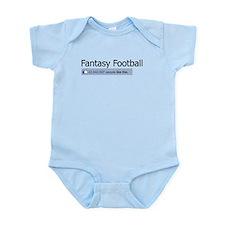 Like Fantasy Football Infant Bodysuit