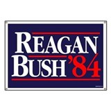 Reagan Bush '84 Campaign Banner