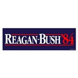 Reagan Bush '84 Campaign Car Sticker