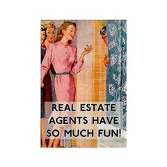 Real Estate Agents Fridge Magnet
