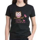 Love you with owl my heart Tee