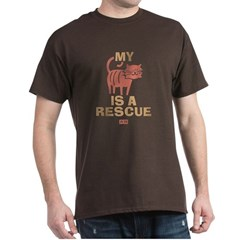 My Cat Is a Rescue Dark T-Shirt