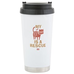 My Cat Is a Rescue Ceramic Travel Mug