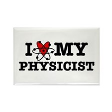 I Love My Physicist Rectangle Magnet