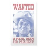 WANTED: Real Man for Prez Decal