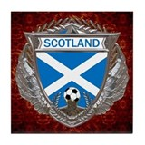 Scotland Soccer Tile Coaster