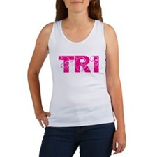 tri = triathlete Women's Tank Top