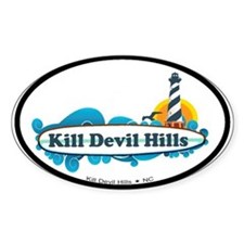 Kill Devil Hills NC - Surf Design Decal