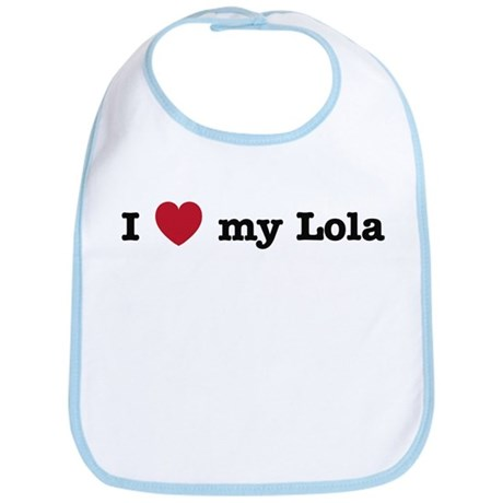 I Love My Lola Bib