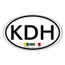 Kill Devil Hills NC - Oval Design Decal