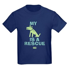 My Dog Is a Rescue Kids Dark T-Shirt