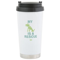 My Dog Is a Rescue Ceramic Travel Mug