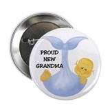 Proud New Grandma Baby Boy Button