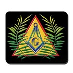 Masonic Acacia & S&C Black Mousepad