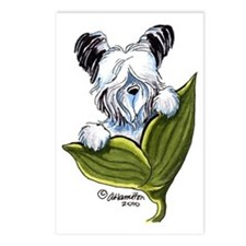 Platinum Skye Terrier Postcards (Package of 8)