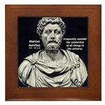 Marcus Aurelius Stoicism Framed Tile