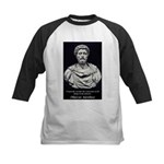 Marcus Aurelius Stoicism Kids Baseball Jersey