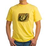 Nesting Pigeons Yellow T-Shirt