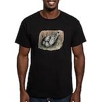 Nesting Pigeons Men's Fitted T-Shirt (dark)