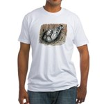 Nesting Pigeons Fitted T-Shirt