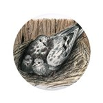 """Nesting Pigeons 3.5"""" Button (100 pack)"""
