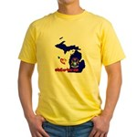 ILY Michigan Yellow T-Shirt