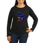 ILY Michigan Women's Long Sleeve Dark T-Shirt