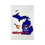 ILY Michigan Rectangle Magnet (10 pack)