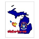 ILY Michigan Small Poster