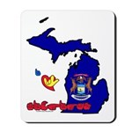 ILY Michigan Mousepad